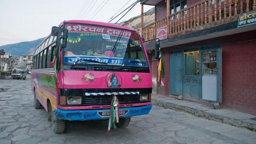 Nepali offroad bus